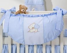 Vak na hračky modrý medvídek Love