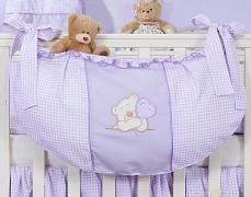 Vak na hračky fialový medvídek Love