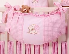 Vak na hračky růžový medvídek Love