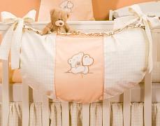 Vak na hračky oranžový medvídek Love