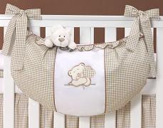 Vak na hračky hnědý medvídek Love