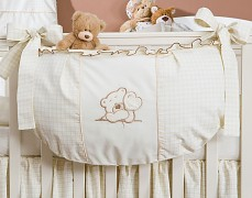 Vak na hračky béžový medvídek Love