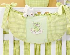 Vak na hračky zelený obláček kostička