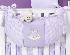 Vak na hračky fialový obláček kostička