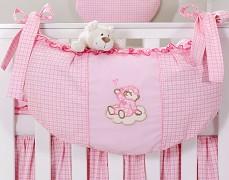 Vak na hračky růžový obláček kostička