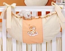 Vak na hračky oranžový obláček kostička