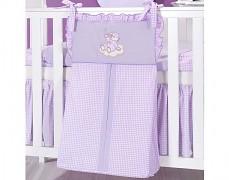 Vak na pleny fialový obláček kostička
