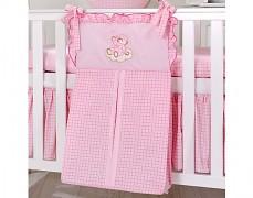 Vak na pleny růžový obláček kostička