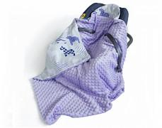 Dětská deka fialová koníci