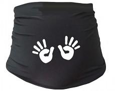 Těhu pás černý s ručičkami