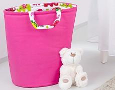 Oboustranný koš na hračky růžová sloni