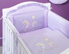 Dětské povlečení fialový zajíček