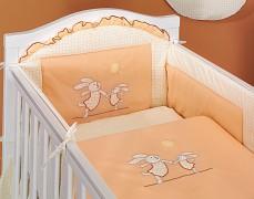 Dětské povlečení oranžová zajíčci