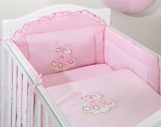 Dětské povlečení růžový obláček kostička