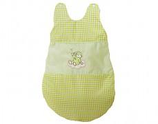 Dětský spací pytel zelený obláček kostička