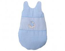 Dětský spací pytel modrý obláček kostička