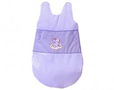 Dětský spací pytel fialový obláček kostička