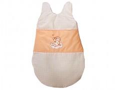 Dětský spací pytel oranžový obláček kostička