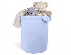 Koš na hračky modrý velvet