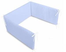 Mantinel modrý velvet prošívaný