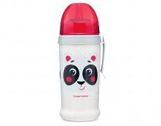 Sportovní lahev se slámkou červená Hello Little