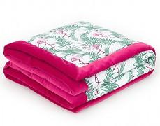 Dětská deka růžová flamingo velvet