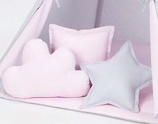 Set polštářků šedo-růžová
