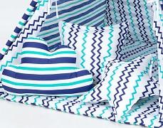 Set polštářků modro-zelené