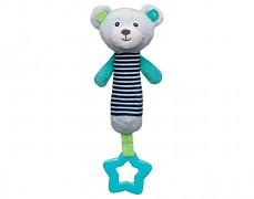 Plyšový pískací modrý medvídek