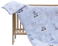 Dětské povlečení modrá zebra