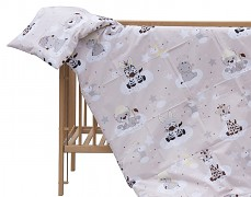 Dětské povlečení béžová zebra