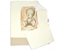 Set béžová Teddy s bílou Minky