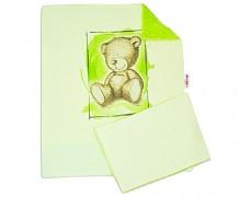Set zelená Teddy se zelenou Minky