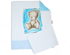 Set modrá Teddy s modrou Minky