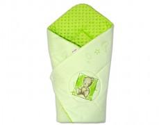 Zavinovačka zelená Teddy s zelenou Minky
