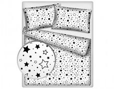 Dětské povlečení černobílé hvězdy 140x200