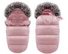 Fusak růžový Ice Baby s kožíškem