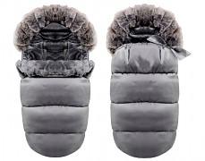 Fusak šedý tmavý Ice Baby s kožíškem