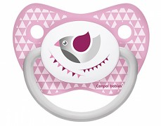 Dudlík růžový PARTY silikonový