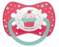 Dudlík růžový CUPCAKE silikonový