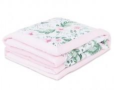 Dětská deka růžová zahrada velvet