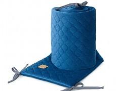 Mantinel modrý tmavý prošívaný velvet