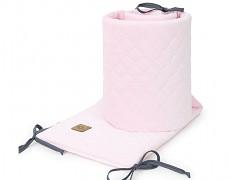 Mantinel baby pink prošívaný velvet