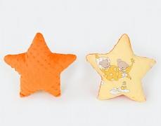 Polštářek oranžová hvězda