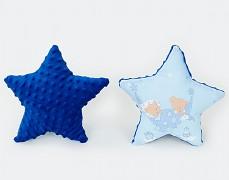 Polštářek modrá hvězda