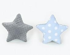 Polštářek modrý puntík s šedou