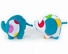 Polštářek barevné puntíky sloník