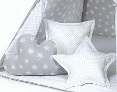 Set polštářků šedé hvězdice