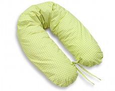 Relaxační polštář zelené kostičky