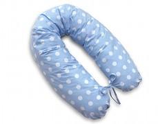 Relaxační polštář modrý puntík